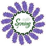 Ciao struttura del lillà della primavera illustrazione di stock