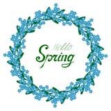Ciao struttura del nontiscordardime della primavera illustrazione di stock