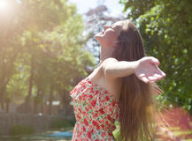 Ciao Sun! fotografia stock