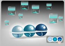 Ciao tecnologia del topo della sfera tracciante con il fondo dell'estratto di tecnologia Fotografie Stock