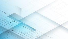 Ciao-tecnologia futuristica, ingegneria digitale, concetto dell'estratto di tecnologia di scienza illustrazione vettoriale