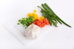 ciapań deskowi warzywa Fotografia Stock