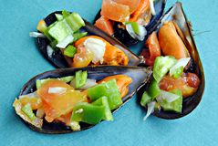 ciapań mussels Obrazy Royalty Free