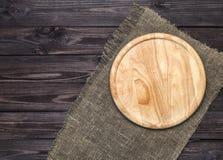Ciapanie deska na drewnianym stole, odgórny widok obraz royalty free