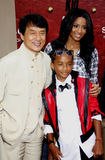 Ciara, Jackie Chan and Jaden Smith Royalty Free Stock Images