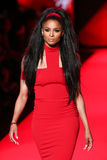 Ciara walks the runway at the Go Red For Women Red Dress Collection 2015 Royalty Free Stock Image