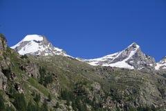 Ciarforon e Becca Monciair - alpi Immagine Stock Libera da Diritti