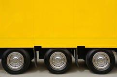 ciężarowy kolor żółty Zdjęcia Royalty Free