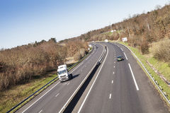 Ciężarówki i ruch drogowy w Francja Zdjęcia Royalty Free