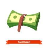 Ciasny budżet i recesi zmniejszający się gospodarka royalty ilustracja