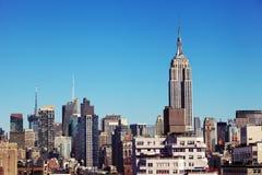Empire State Building środka miasta Manhattan linia horyzontu Jork Fotografia Royalty Free