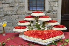 8 ciast ślub Obrazy Stock