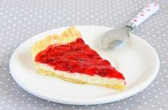 ciasta tła płytkę truskawkowy służyć biały Fotografia Stock