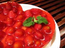 ciasta tła płytkę truskawkowy służyć biały Zdjęcie Royalty Free