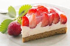 ciasta tła płytkę truskawkowy służyć biały Obraz Stock