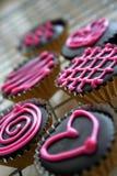 ciasteczka czekoladowe s walentynki Obrazy Royalty Free