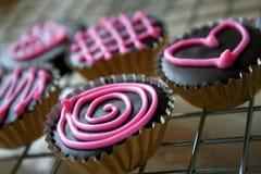 ciasteczka czekoladowe s walentynki Zdjęcia Royalty Free