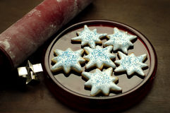 ciasteczka jedzenia cukru Obrazy Royalty Free