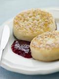 ciasteczka masła jam Obraz Royalty Free