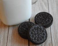 ciasteczka mleka Fotografia Royalty Free
