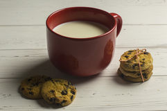 ciasteczka mleka Zdjęcia Royalty Free