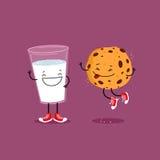 ciasteczka mleka obcy kreskówka komunikuje dyrektor śmieszną ilustracyjną językową filmu znaka przestrzeń ilustracja wektor