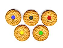 ciasteczka olimpic Fotografia Stock