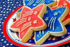 ciasteczka patriotami Zdjęcia Royalty Free