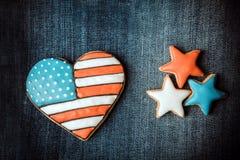 ciasteczka patriotami Zdjęcie Royalty Free