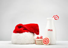 ciasteczka Santa mleka Zdjęcia Stock