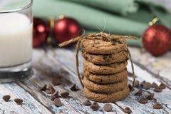 ciasteczka Santa mleka zdjęcie stock