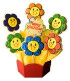 ciasteczka szczęśliwi urodzinowi Obrazy Royalty Free