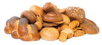 ciastek chlebów odosobneni pikelets biały Fotografia Royalty Free