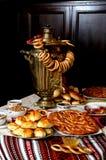 ciastek cytryny stołu herbata Zdjęcie Royalty Free