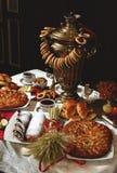 ciastek cytryny stołu herbata Fotografia Royalty Free