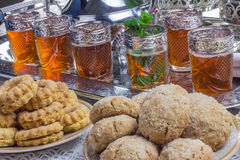 Ciastek i marokańczyka nowa herbata Obrazy Royalty Free