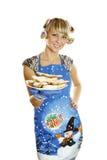 ciastek przygotowany kobiety xmas Zdjęcia Stock