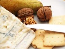 ciastek serowe śmietankowe Gorgonzola dokrętki Fotografia Stock