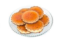 ciastek szkła galarety talerz Fotografia Stock