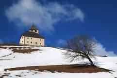 Ciastel de Tor, San Martino in Badia, Alta Badia, Italia Fotografia Stock Libera da Diritti