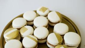 Ciastka białego złota macaroons zbiory wideo