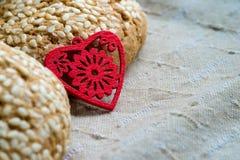 Ciastka handmade serce Fotografia Stock