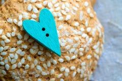 Ciastka handmade serce Zdjęcie Royalty Free
