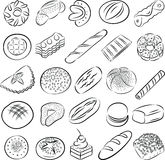 Ciastka i chleby Zdjęcie Stock