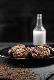 Ciastka II i mleko fotografia stock