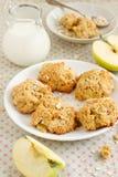 ciastka jabłczany oatmeal Zdjęcie Royalty Free