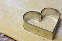 ciastka krajacza serce Obraz Royalty Free
