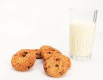 ciastka mleko Zdjęcia Royalty Free