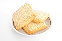 Ciastka na talerzu Zdjęcia Royalty Free