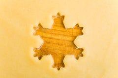 ciastka pusta surowa kształta gwiazda zdjęcie royalty free